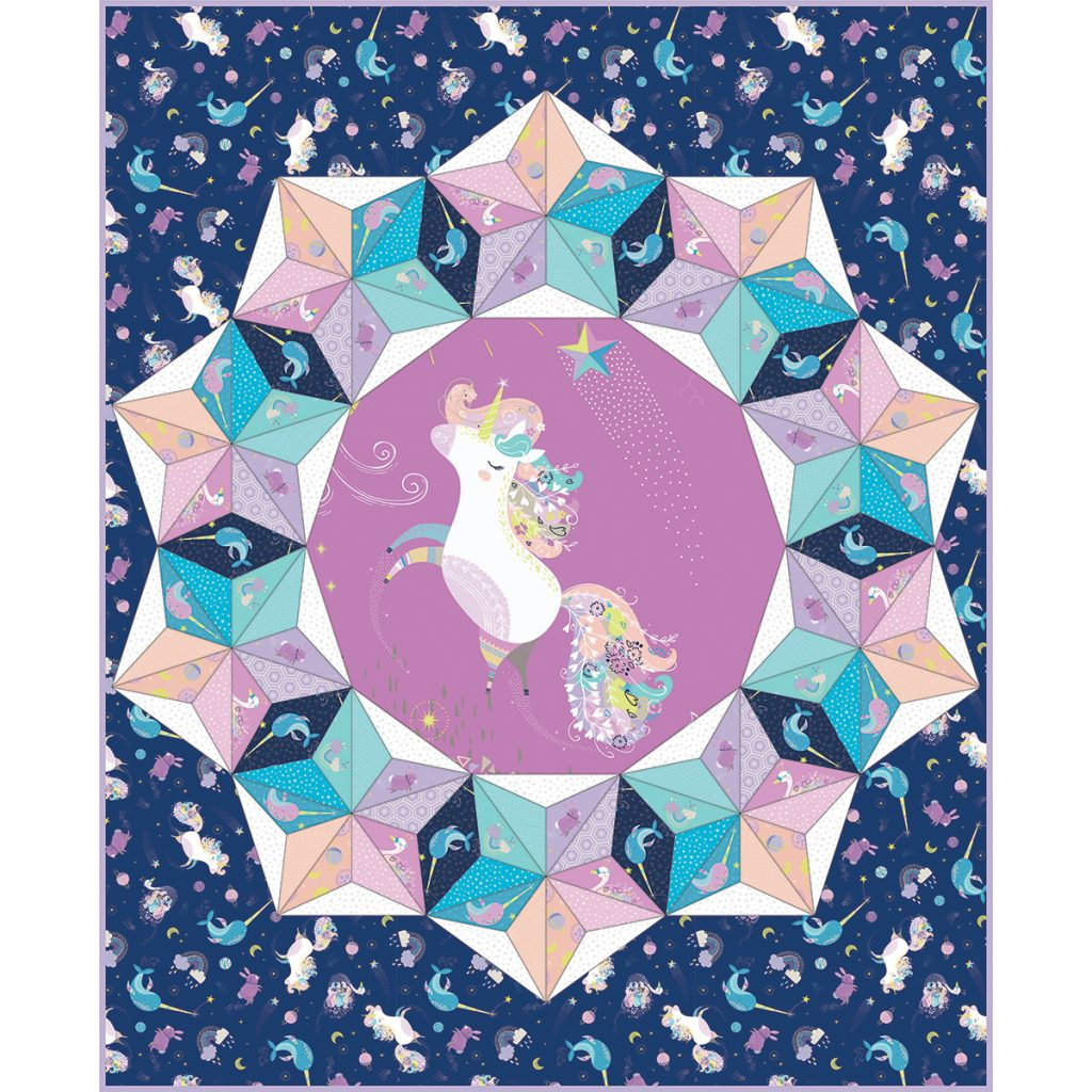 Out of this World Quilt in Navy
