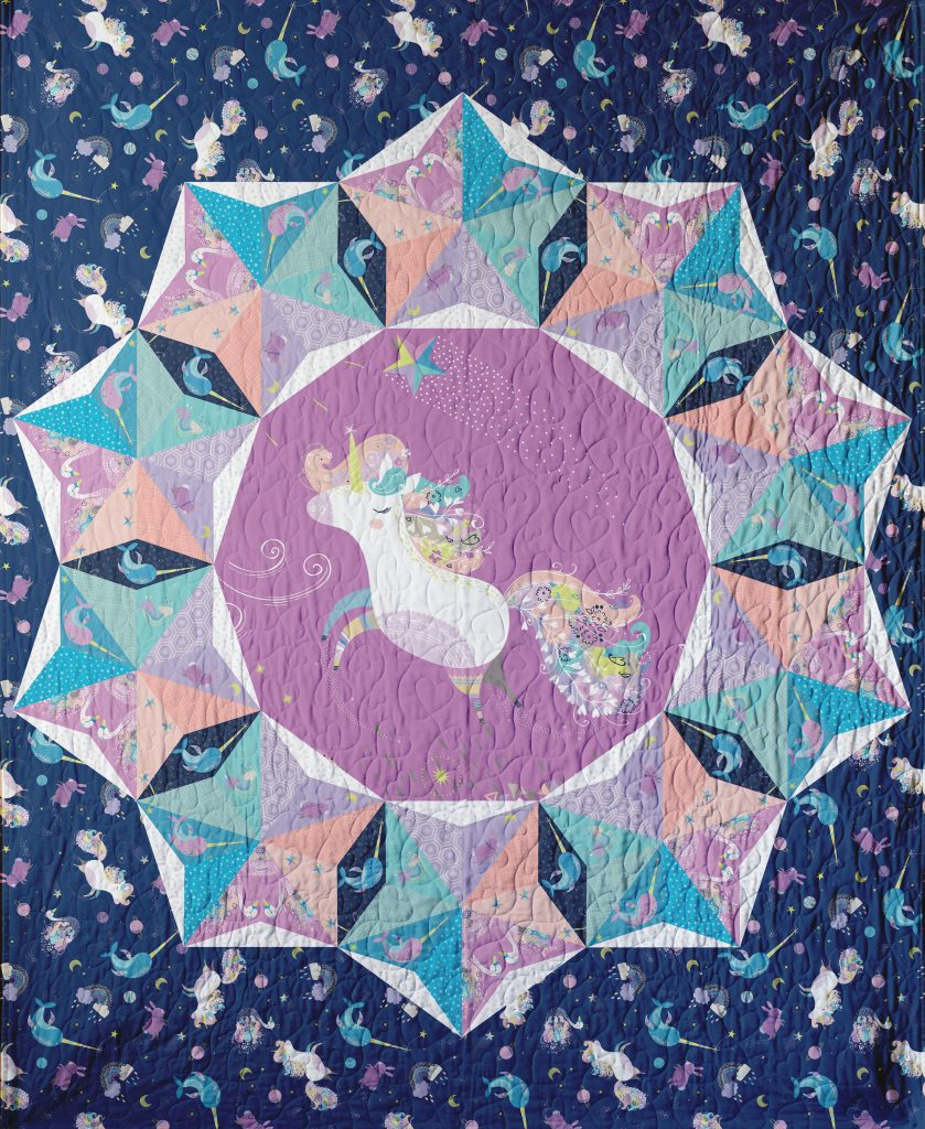 Out of this World English Paper Pieced Panel Baby Quilt