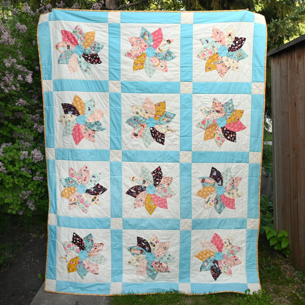 Beauty and the Beast Dresden Swirl Quilt