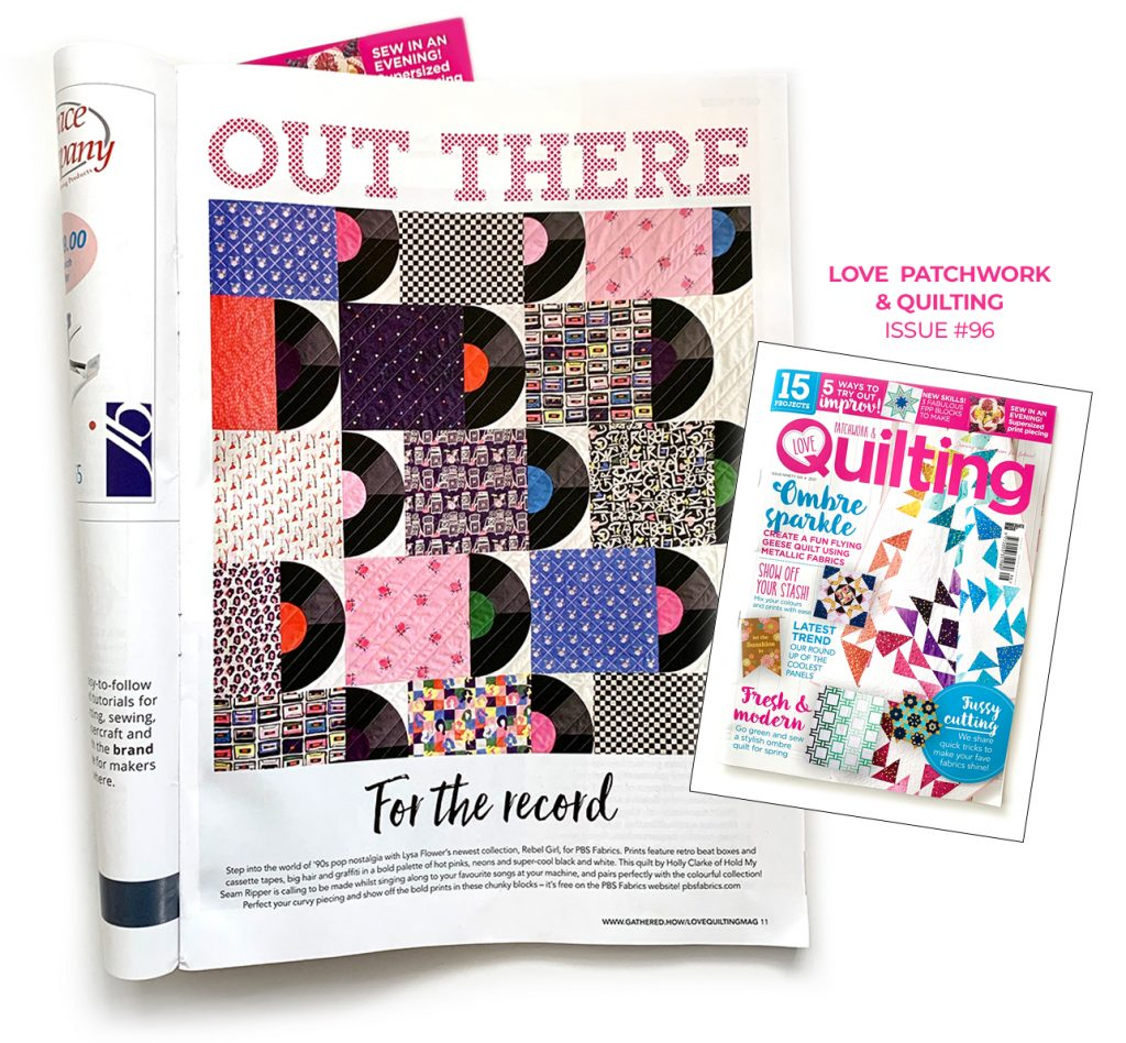 Rebel Girl in Love Patchwork & Quilting Magazine