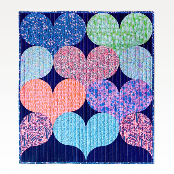 Juicy Hearts Quilt Lush and Wild