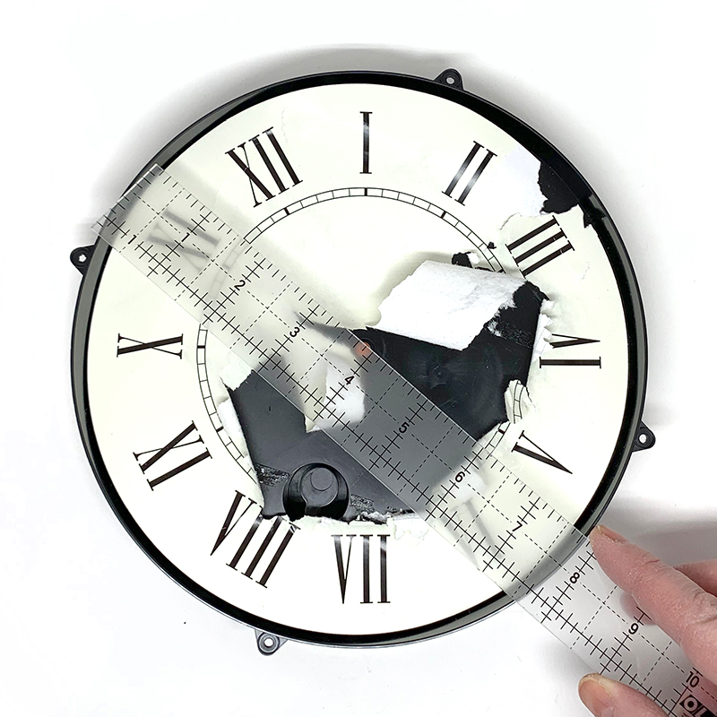 Measure the inside of your clock face